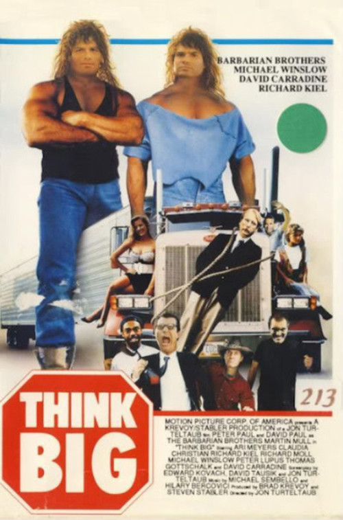 Think Big starring The Barbarian Brothers VHS Cover