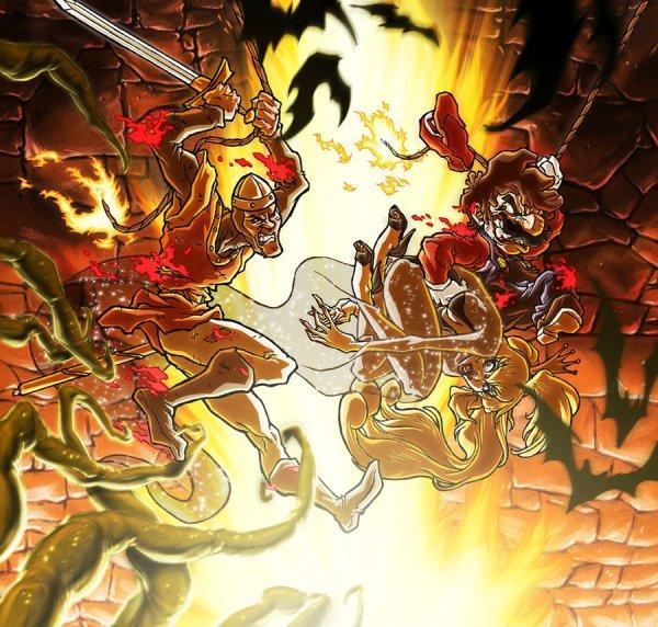 Mario vs Dirk the Daring by Sebastian von Buchwald - Dragon's Lair