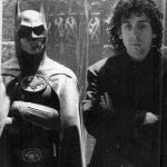Michael Keaton as Batman with Tim Burton on Set