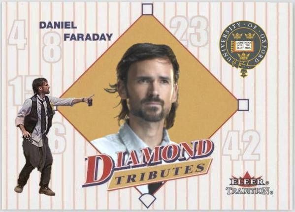 Daniel Faraday - LOST Baseball Card - Jeremy Davies