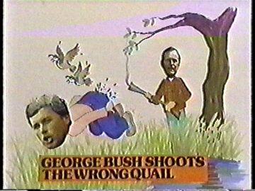George Bush Shoots the Wrong Quail