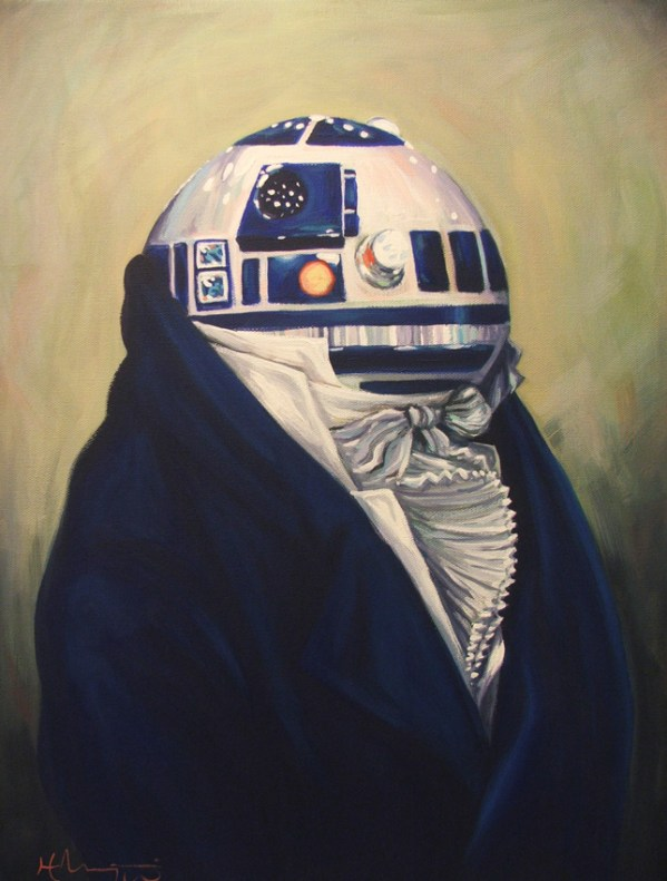 Duke R2-D2 by Hillary White - Star Wars Art