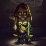 Poison Ivy Meets Audrey II by Ricardo Chucky - Batman x LIttle Shop of Horrors Art