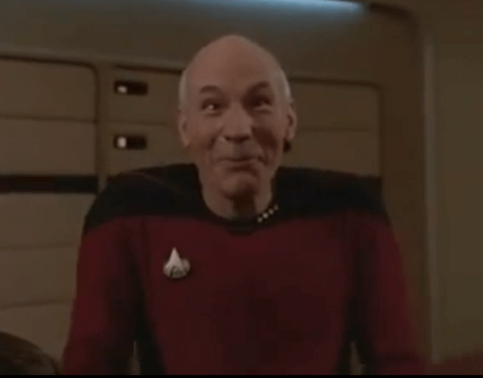 Captain jean luc picard funny face patrick stewart in star trek the