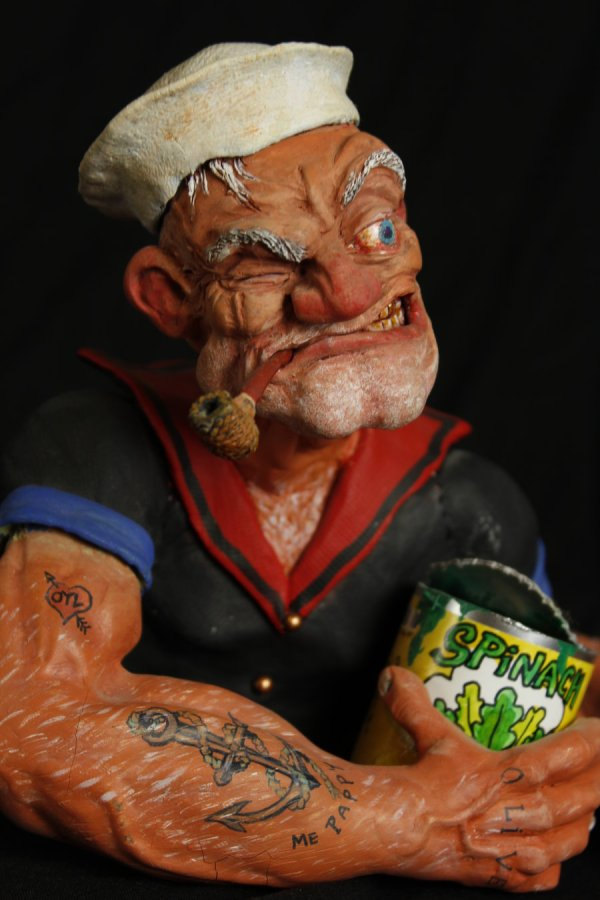 Popeye sculpture by Micky Betts