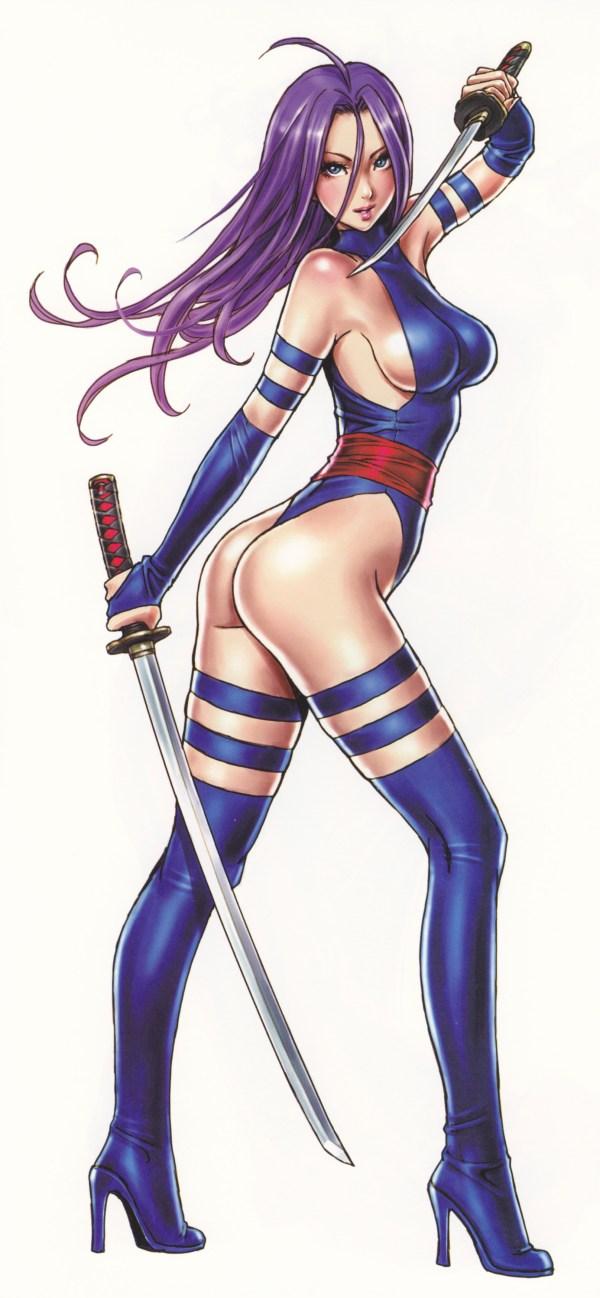 Bishoujo Style Psylocke by Shunya Yamashita - Marvel Comics, X-Men, Anime, Manga