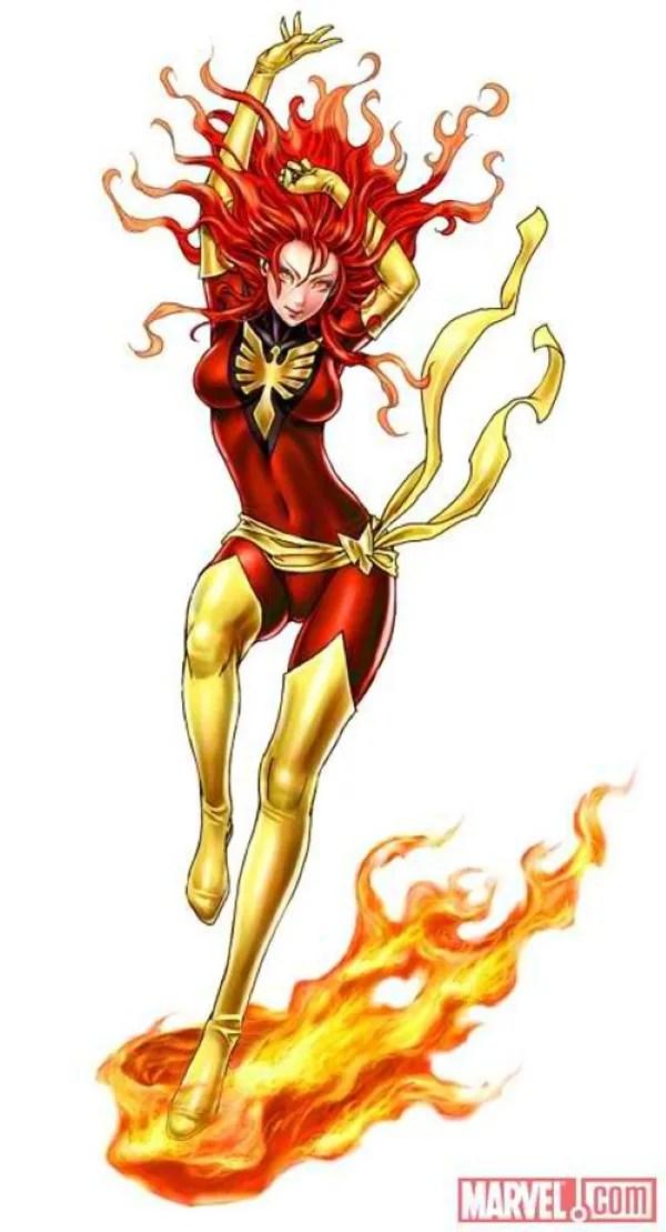 Bishoujo Style Dark Phoenix by Shunya Yamashita - Marvel Comics, X-Men, Anime, Manga