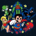 Mushroom League: Super Mario Bros x Justice League Mashup - Gaming Art