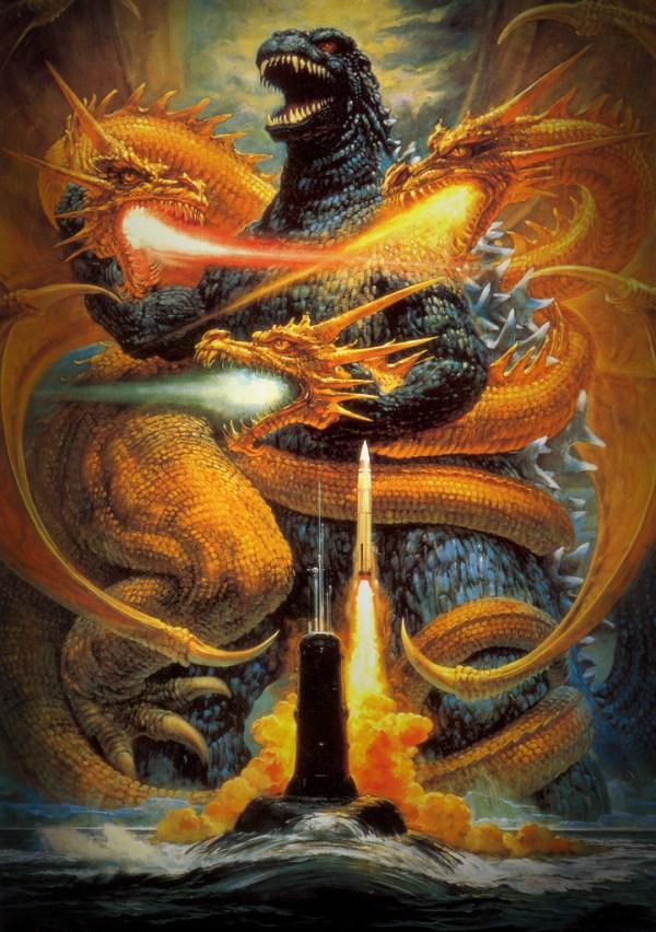 Godzilla vs King Ghidorah (Toho, 1991) - Noriyoshi Ohrai Painting