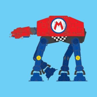 Mario Kart AT-AT - Super Mario Bros, Star Wars
