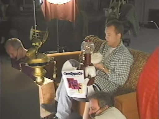 MST3K Last Dance - Bill Corbett, Mike Nelson and Kevin Murphy filming las scene