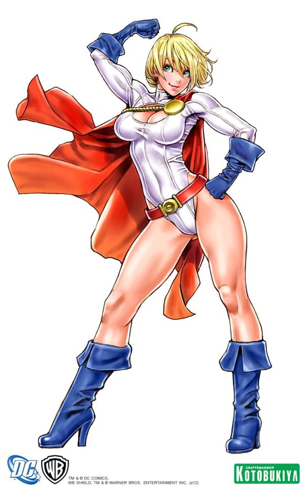 Bishoujo Style Power Girl by Shunya Yamashita - DC Comics, manga, anime