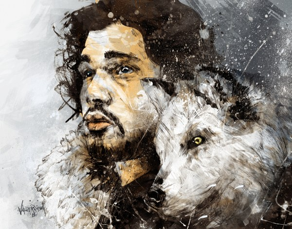 beyond the wall by fresh doodle - game of thrones, jon snow