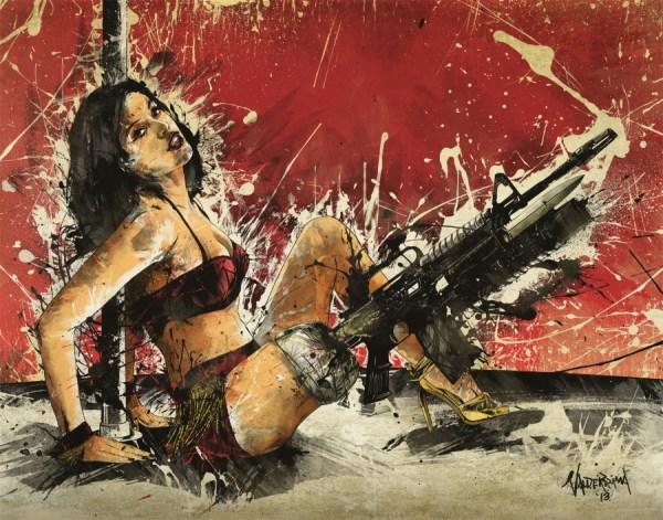 go go gunner by fresh doodle - planet terror - robert rodriguez, Cherry Darling, Rose McGowan