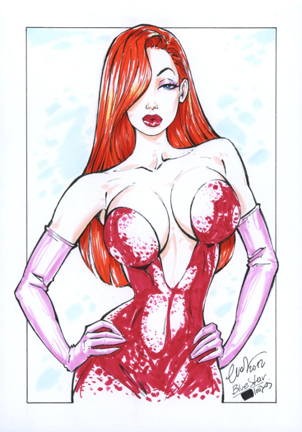 Jessica Rabbit Pinup Art by Elias Chatzoudis - who framed roger rabbit