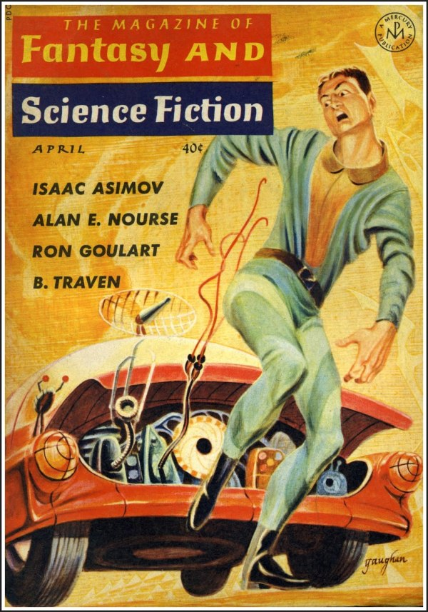 magazine of fantasy and science fiction - cover by jack gaughan