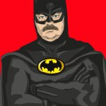 Ron Swanson as Batman - Parks and Recreation, Justice League, Nick Offerman