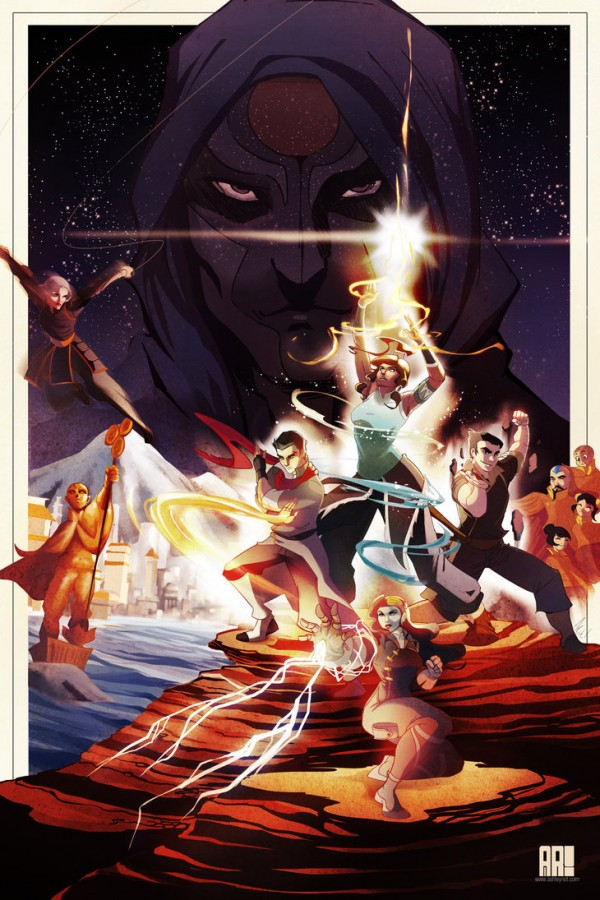 Star Wars Style Legend of Korra Poster Art by Ashley Riot - Avatar, Last Airbender, Nickelodeon