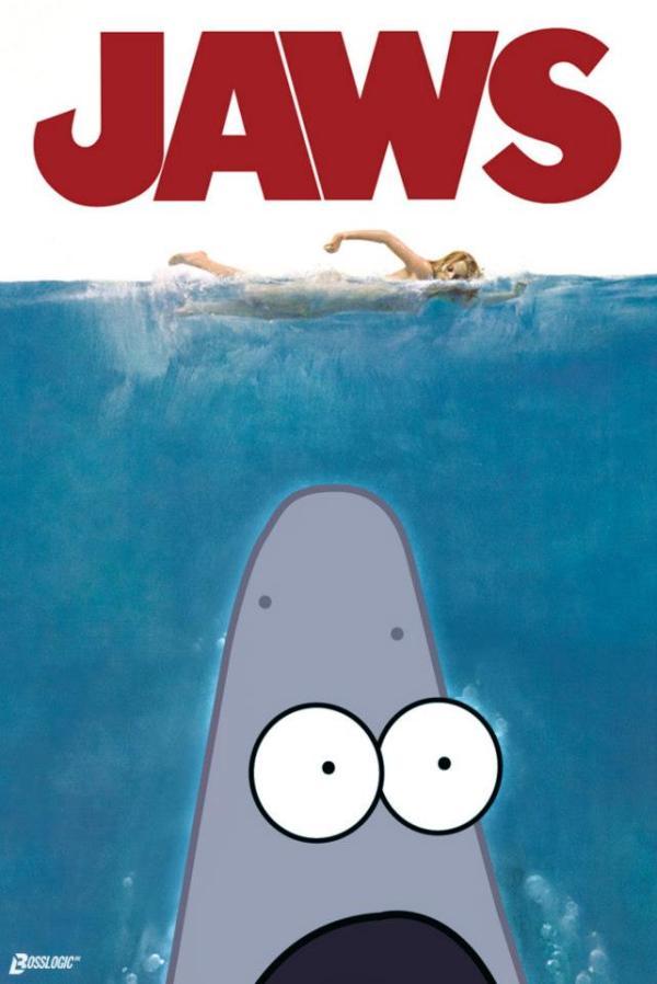 Surprised Patrick x Jaws Poster - SpongeBob SquarePants, Patrick Star