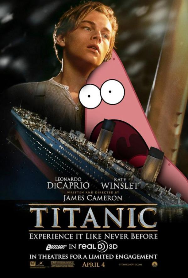 Surprised Patrick x Titanic Poster - SpongeBob SquarePants, Patrick Star