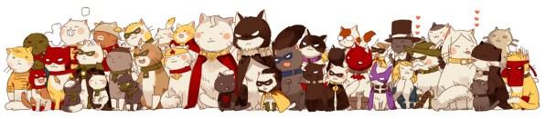 DC Comics Superheroes as Cats by STAR Kageboushi - Batman, Superman, Justice League