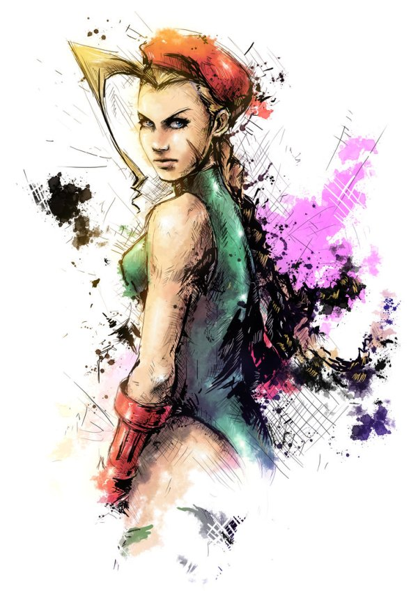Cammy Portrait by Vincent Vernacatola - Street Fighter Art - Gaming - Capcom