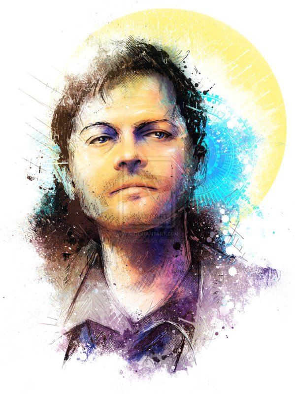 Castiel Portrait by Vincent Vernacatola - Supernatural Art