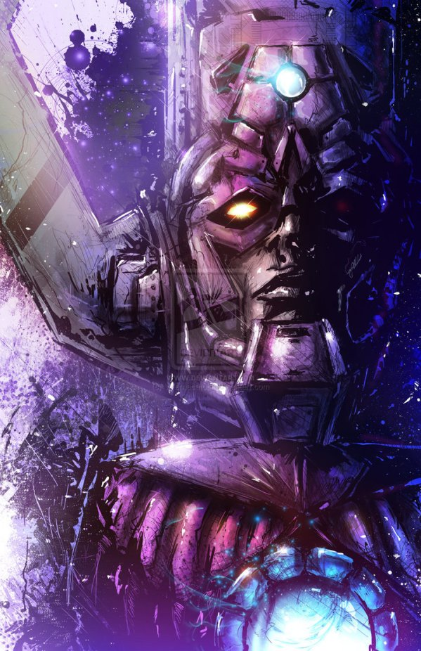 Galactus Portrait by Vincent Vernacatola - Marvel Comics Art