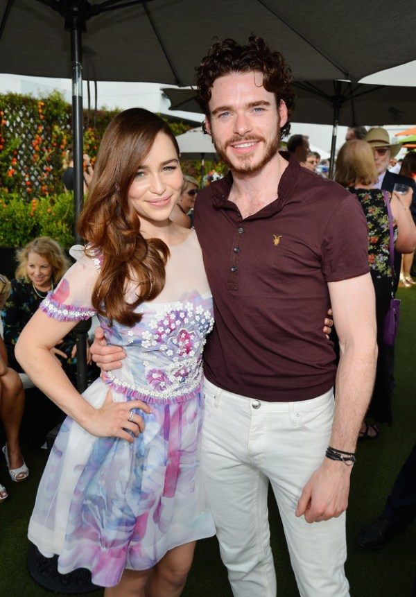 Game of Thrones Cast: Emilia Clarke (Daenerys Targaryen), Richard Madden (Robb Stark)