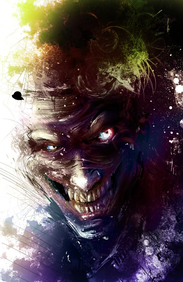 Joker Portrait by Vincent Vernacatola - Batman Comics Art