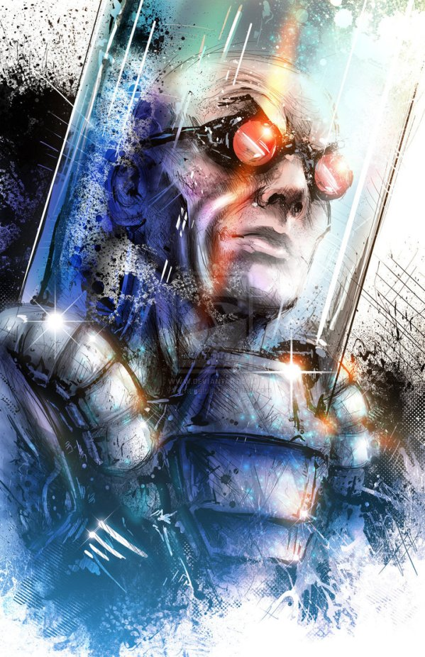 Mr. Freeze Portrait by Vincent Vernacatola - Batman Comics Art