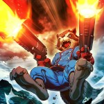 Rocket Raccoon Art for Marvel's War of Heroes Digital Card Game by Edwin Huang and Gonzalo Ordóñez Arias