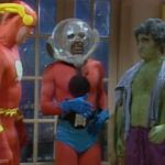 Saturday Night Live Superhero Party Sketch - Bill Murray - Superman, John Belushi - Hulk, Dan Aykroyd - Flash, Garrett Morris - Ant-Man