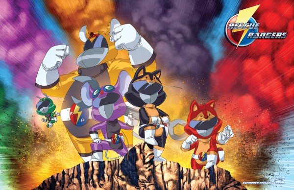 Secret Crime Fighting Team Rescue Rangers by dyemooch - Chip 'n' Dale x Power Rangers