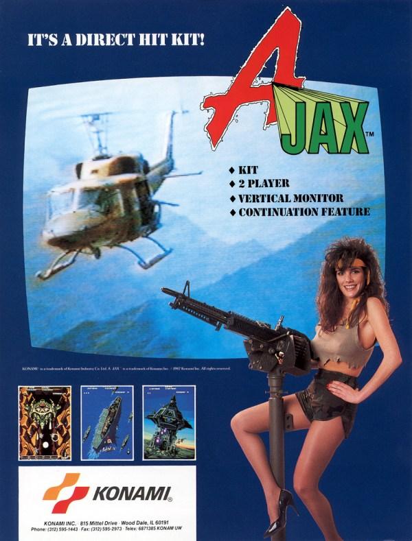 A-Jax (1987) - Konam Arcade Flyer