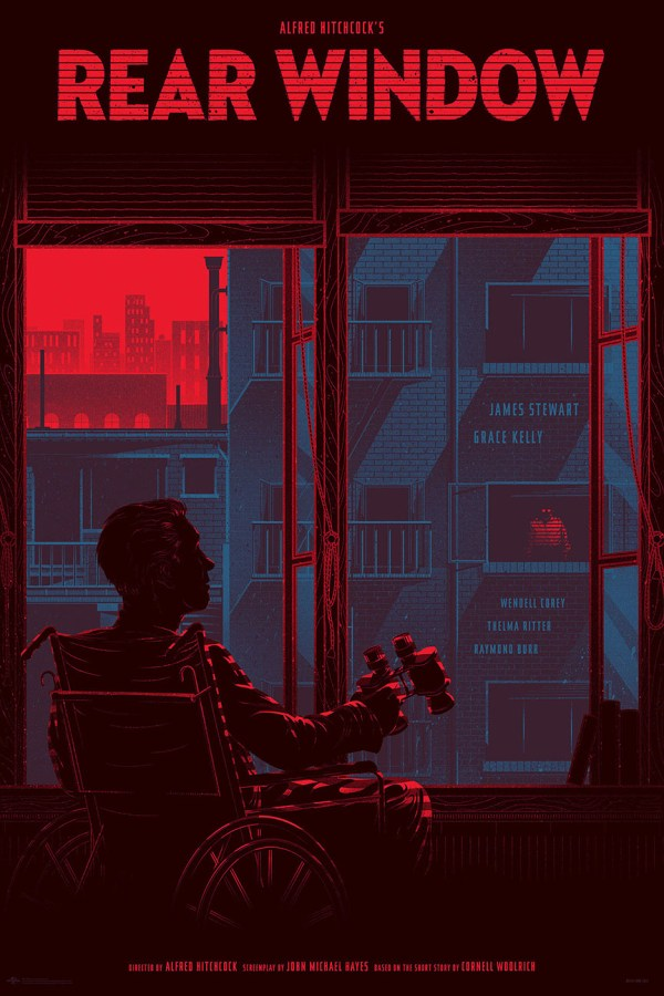 Rear Window Poster by Kevin Tong - Directed by Alfred Hitchcock