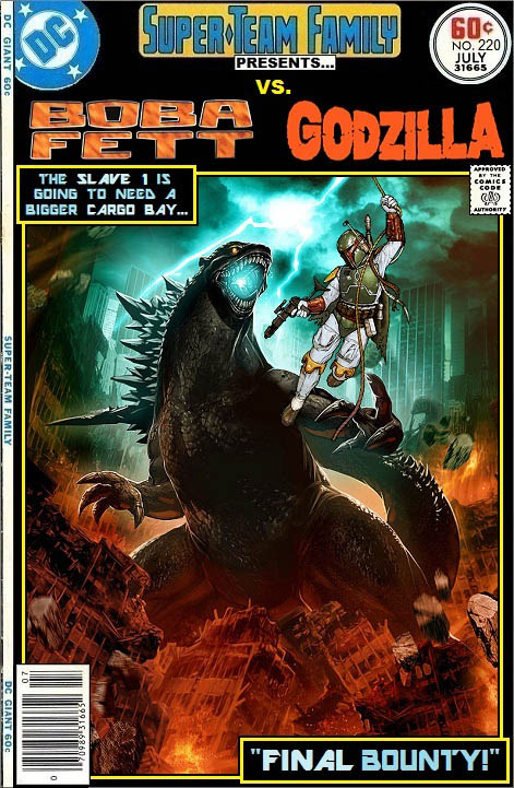 Boba Fett vs Godzilla - Star Wars Crossover