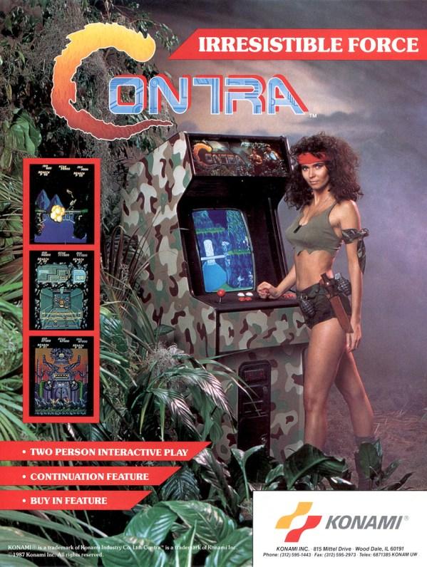 Contra (1987) - Konam Arcade Flyer