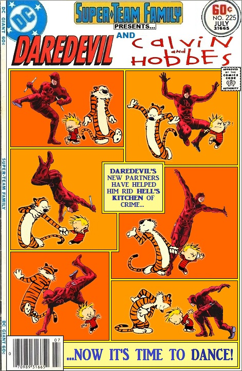 Daredevil and Calvin and Hobbes Team-Up - Comics Crossover