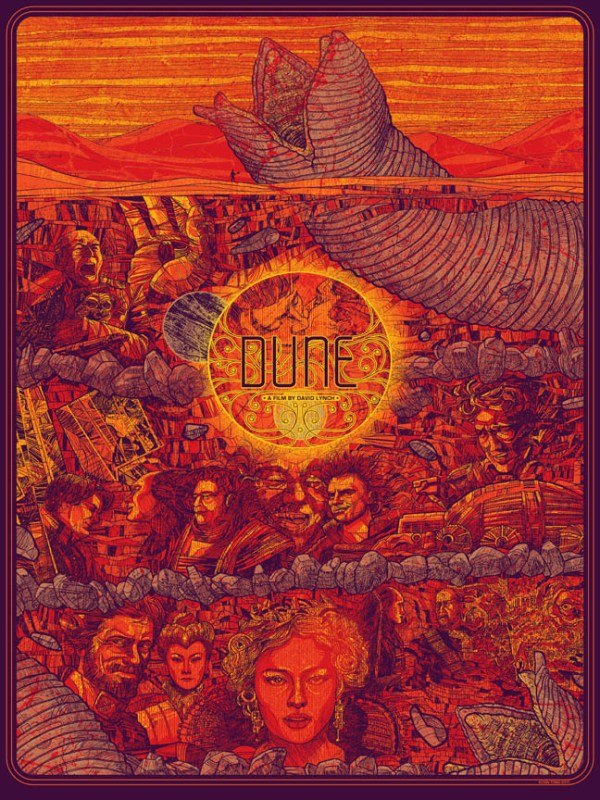 Dune Poster by Kevin Tong - Directed by David Lynch