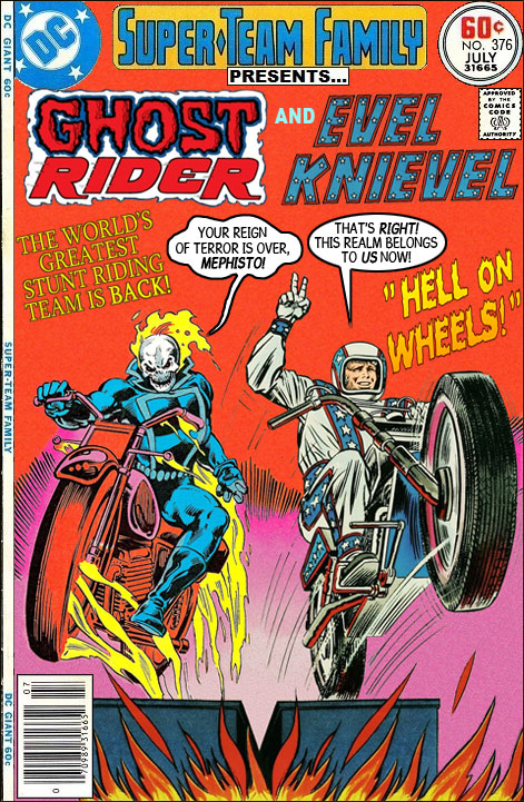 Ghost Rider and Evel Knievel Team-Up - Marvel Comics Crossover