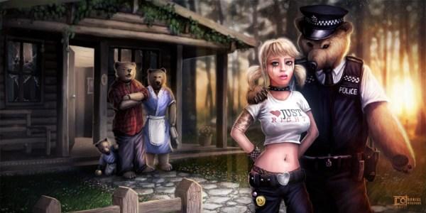 Goldilocks and the Three Bears by Dan Osborne - Reimagined Fairy Tale Illustrations