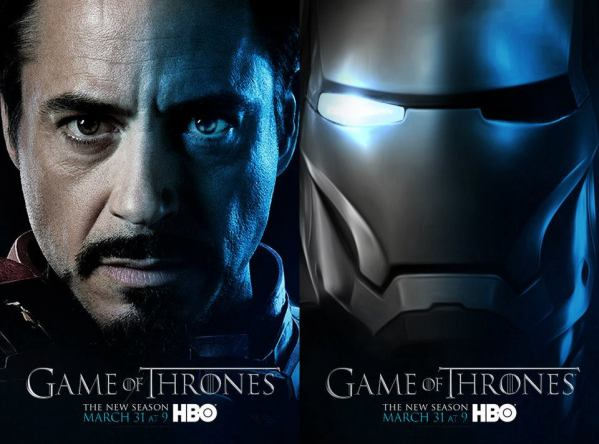 Iron Man x Game of Thrones Poster Mashup by BossLogic - Tony Stark, HBO, Television