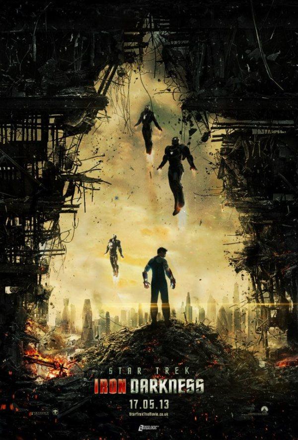 Iron Man x Star Trek into Darkness Poster Mashup by BossLogic - J.J. Abrams, Damon Lindelof