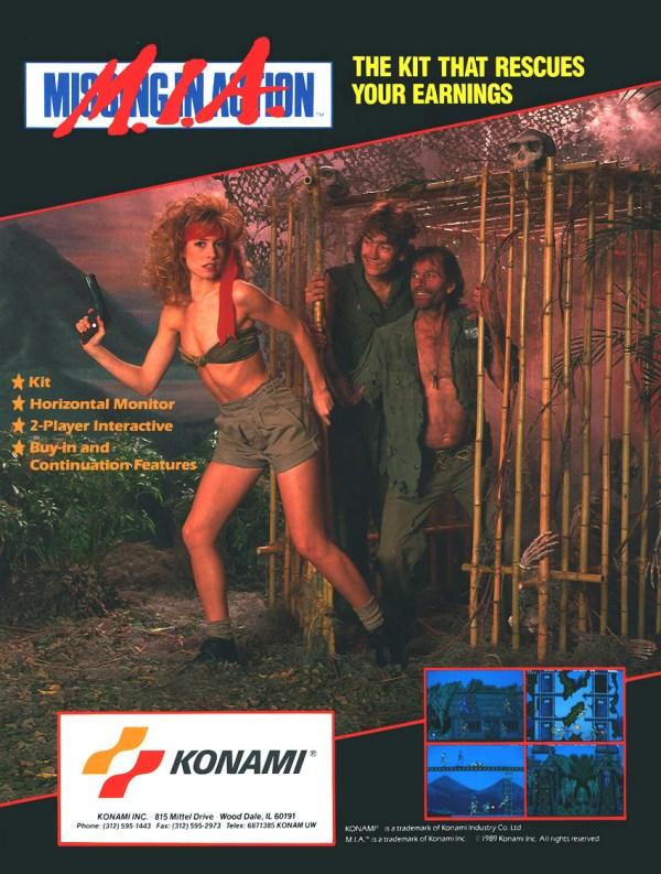 M.I.A. Missing in Action (1989) - Konam Arcade Flyer