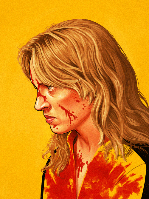The Bride (Uma Thurman) from Kill Bill by Mike Mitchell - Quentin Tarantino