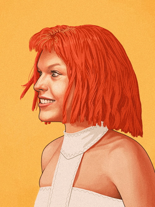 Leeloo (Milla Jovovich) from The Fifth Element by Mike Mitchell - Luc Besson
