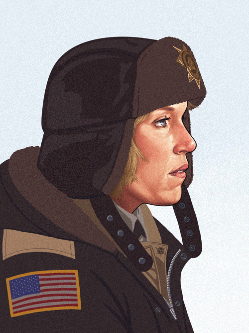 Marge Gunderson (Frances McDormand) from Fargo by Mike Mitchell - Coen Brothers