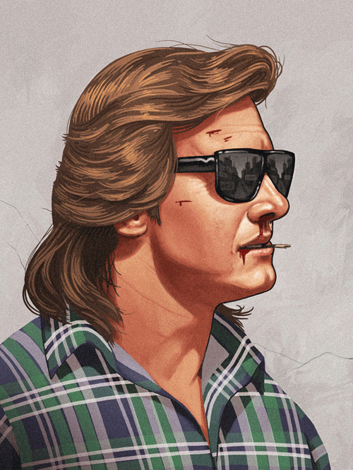 Nada (Rowdy Roddy Piper) from They Live by Mike Mitchell - John Carpenter