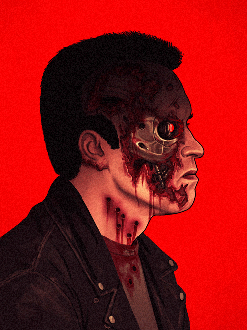 T-800 (Arnold Schwarzenegger) from The Terminator by Mike Mitchell